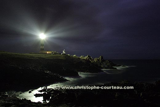 The Créac'h Lighthouse at Night on Ouessant Island
